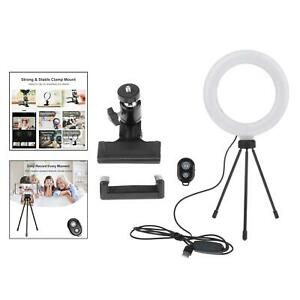 """Anello 6"""" Selfie LUCE Ringlight Lighting Lampada per le chiamate di zoom Stream Live"""
