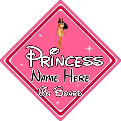 Baby On Board Personalised Disney Princess On Board Car Sign Pocahontas