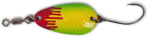 Magic Trout Bloody Loony Spoons Forelle 2 g 2,5 cm weiß pink grün Blinker Köder