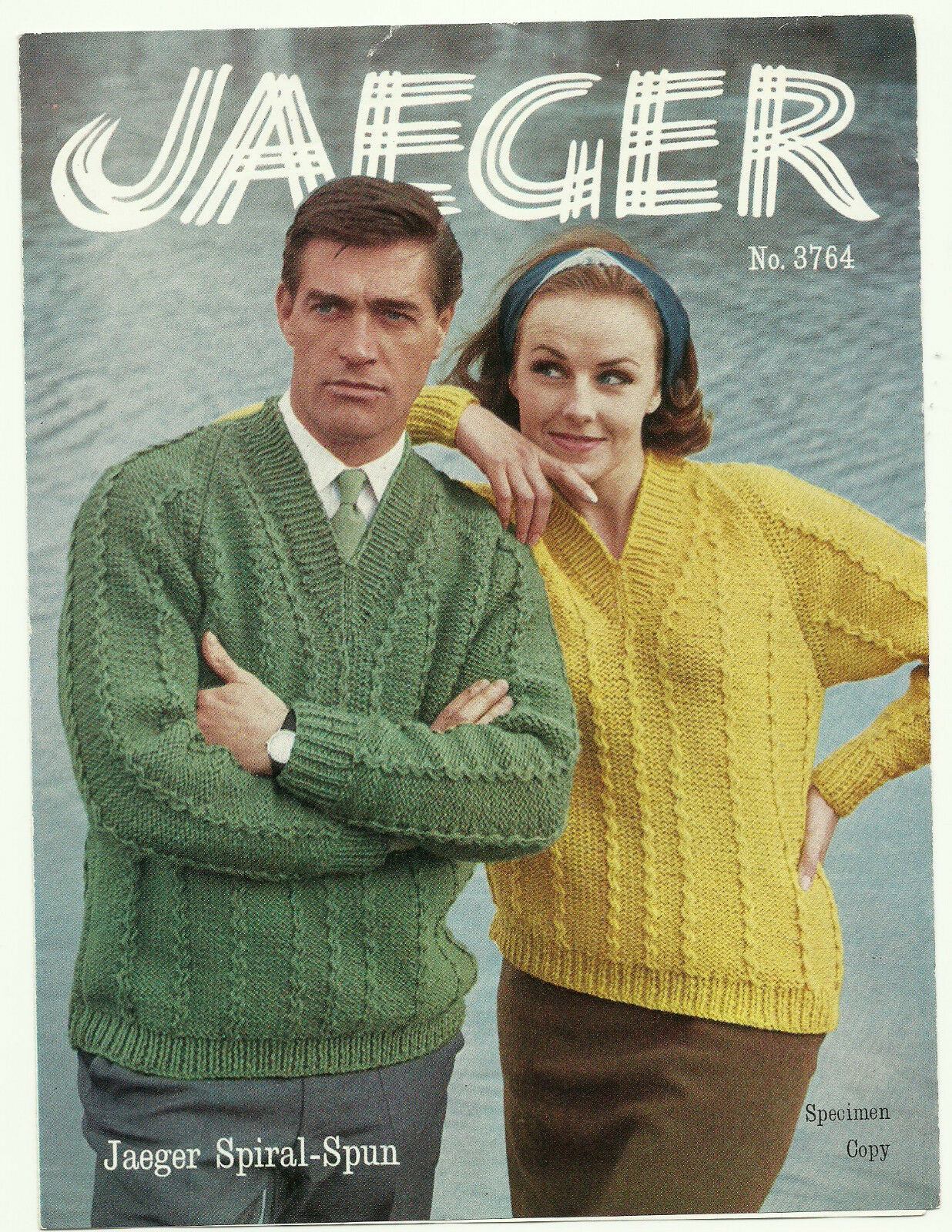 Knitting Pattern Lady\'s Man\'s Spiral Spun V Neck Sweater to Knit ...