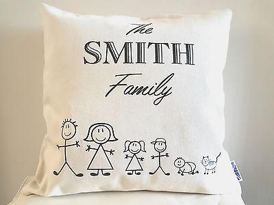 Personalised Cushion Cover Cream or Black 45cmx45cm 100/% cotton Vinyl Design