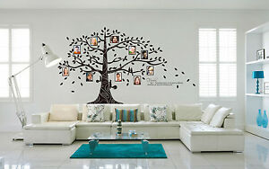 Huge Family Tree Squirrel Photo Frame Wall Quote Art Wall Stickers