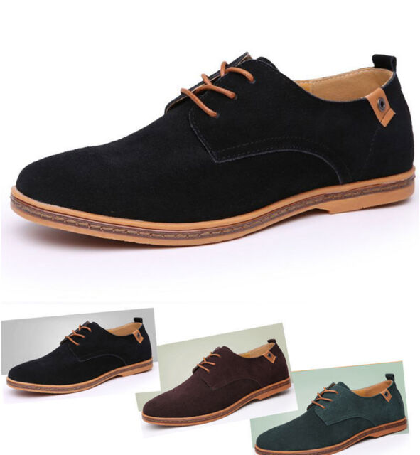 New Fashion Men Oxfords Casual Shoes Suede European Style Leather Shoes Big Size