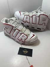 e6c7ac6f Nike Air More Uptempo 96 White Varsity Red Scottie Pippen SNEAKERS Mens  Size 11