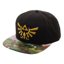 684469bf3f7 Nintendo Legend of Zelda 3d Logo Lenticular Bill Snapback Hat Cap  Adjustable BLK