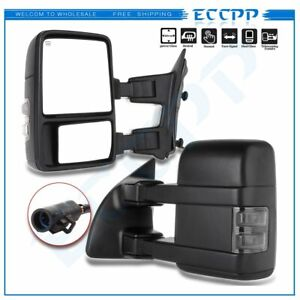 For 99-07 Ford F250-F550 SuperDuty Towing Mirrors Pair Power Heated Turn Signal