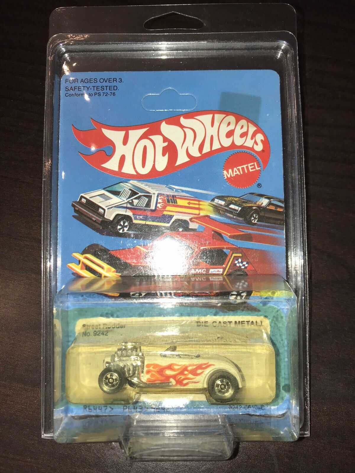 Hot Wheels 1979 Street Rodder Weiß Flames  No price Tag Unpunched Protecto 9242