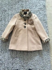 af39c992db6c Girls Next Camel And Leopard Print Coat Age 5-6 Years