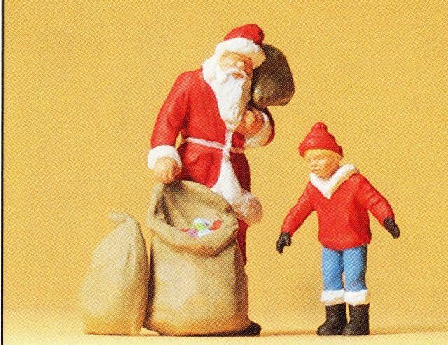 Preiser 65335 Santa Claus con Niño Escala 0 Figuras Escala 1:43 Emb.orig