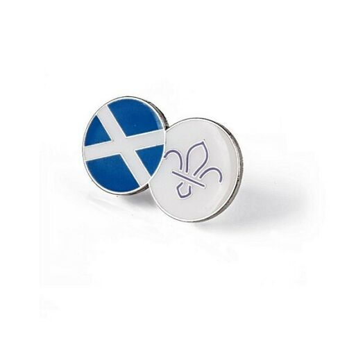 OFFICIAL SUPPLIER Scotland Fleur de Lis Scouts Dual Pin Badge