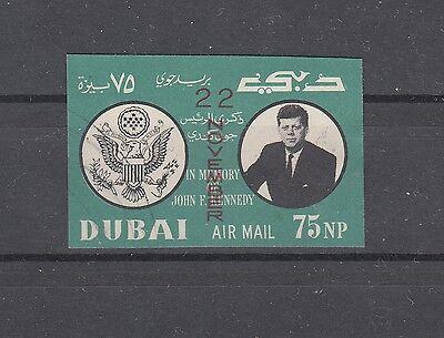 Dubai, 1964 Kennedy Mit Aufdruck 144b Gestempelt, (20305) Glanzend Oppervlak