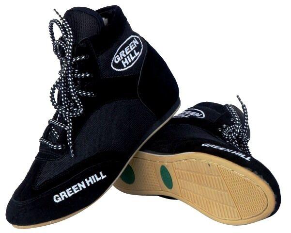 Grünhill boxing schuhe Professional suede Leder Stiefel light weight mesh unisex