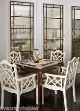 """Extra Large Antiqued WINDOW MIRROR Wall Leaner 79"""" Oversize Architectural Floor"""