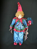Vintage But Bradley Collectible Doll aloysius Jester Clown W/certif