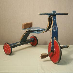 Tricycle Ancien Et Rare En Bois Première Moitié De 900