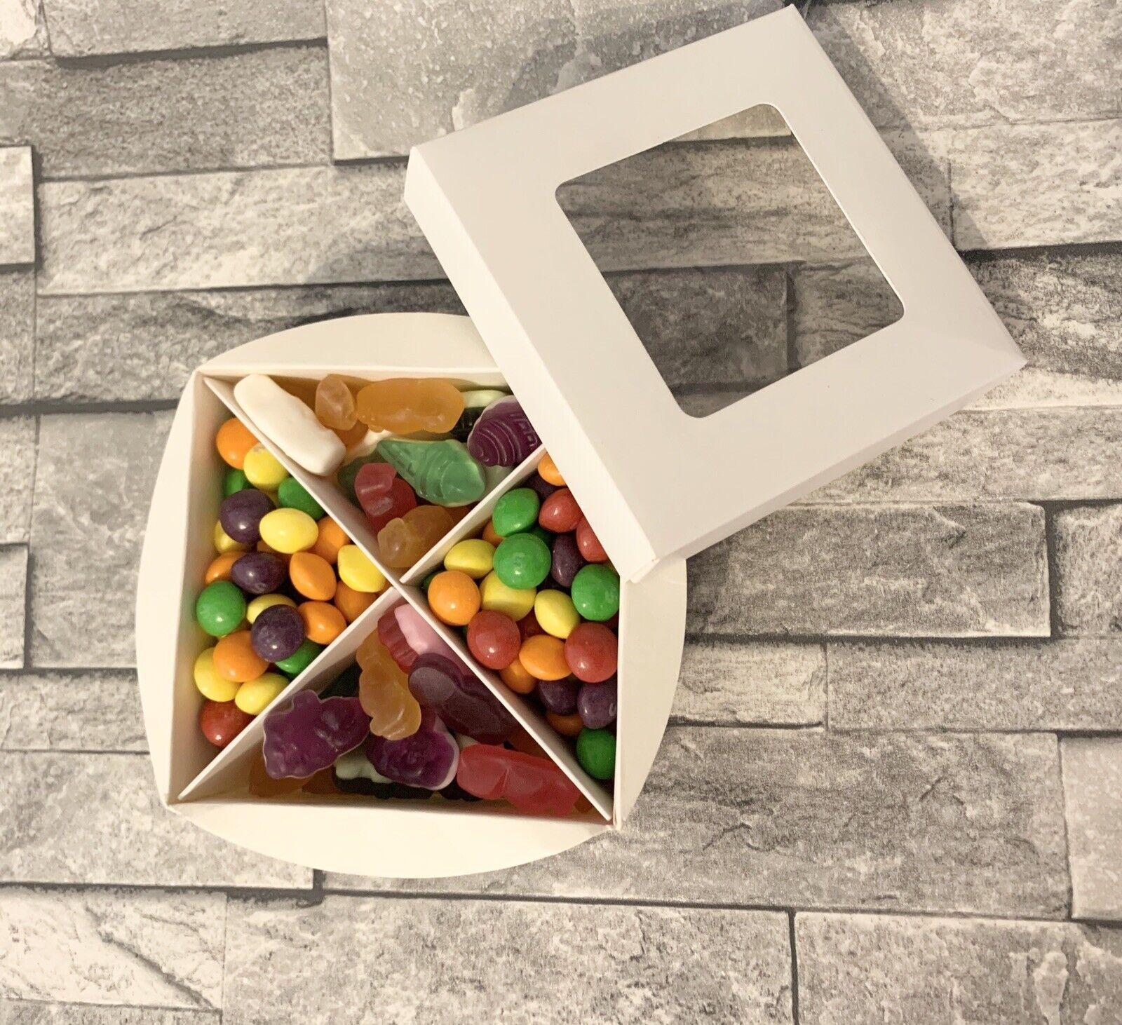 1 X Blanco Mini Caja Vacía dulce con inserciones de cera se derrite y ventana Regalos Favores