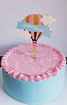 Groovy Hot Air Balloon Acrylic Birthday Cake Topper Ebay Funny Birthday Cards Online Necthendildamsfinfo