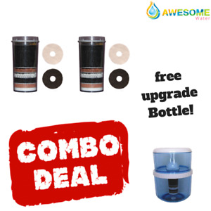 Genuine Awesome Water BUY 2 AS Filters GET ONE FREE Bottle + Cleaning Spray!