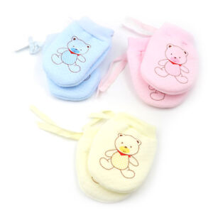 Cute Baby Infant Boys Girls Anti Scratch Mittens Soft Newborn Baby Gloves US US