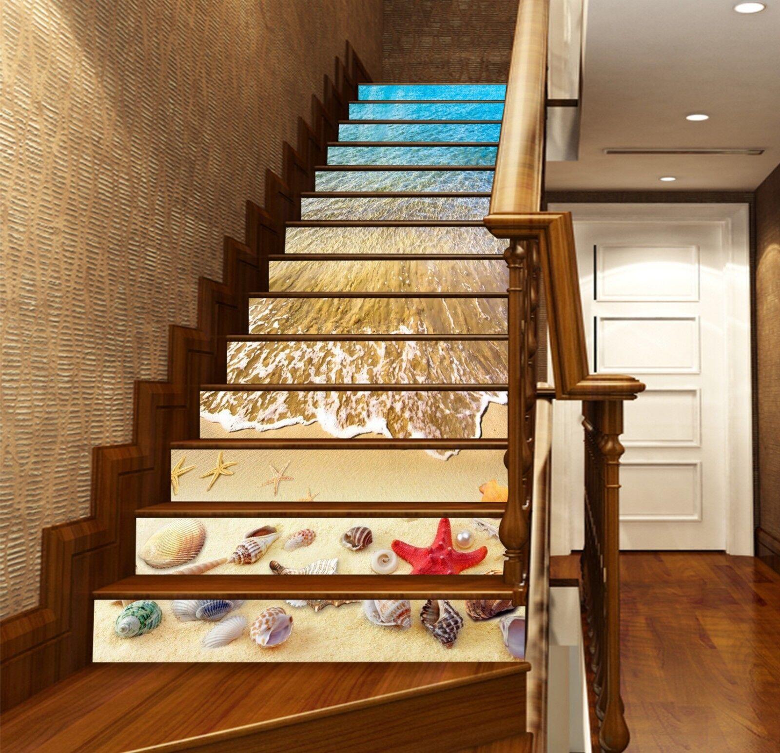 3D Charmanter Strand 141 Stair Risers Dekoration Fototapete Aufkleber Tapete DE