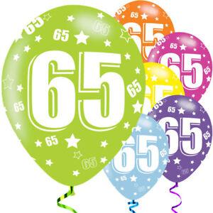 """Courageux 6 X 65th Anniversaire Diverses Couleurs Mix 11"""" Latex Ballons Fête 66655 Ans-afficher Le Titre D'origine MatéRiaux De Choix"""