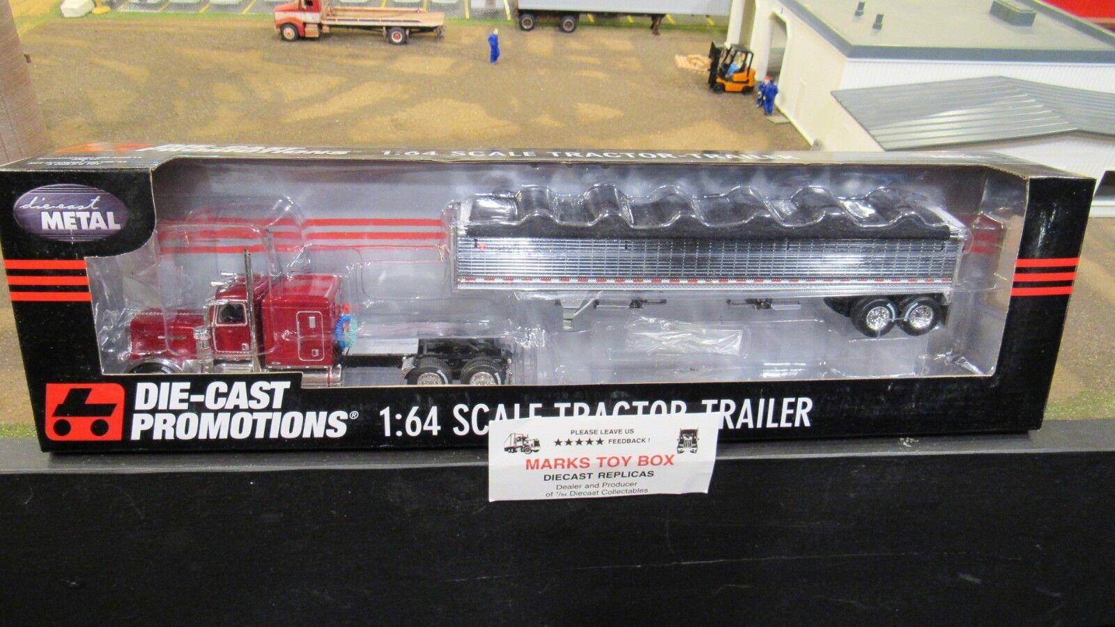DCP 33828 propriétaire exploitant Pete 389 Semi Cab Camion Wilson GRAIN TRAILER 1 64 CL