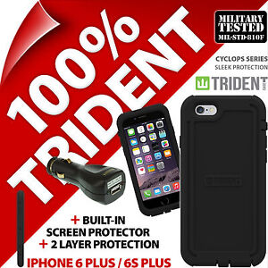 Trident Cyclops Protective Case Rugged for iPhone 6 Plus/6S plus+USB Car Charger