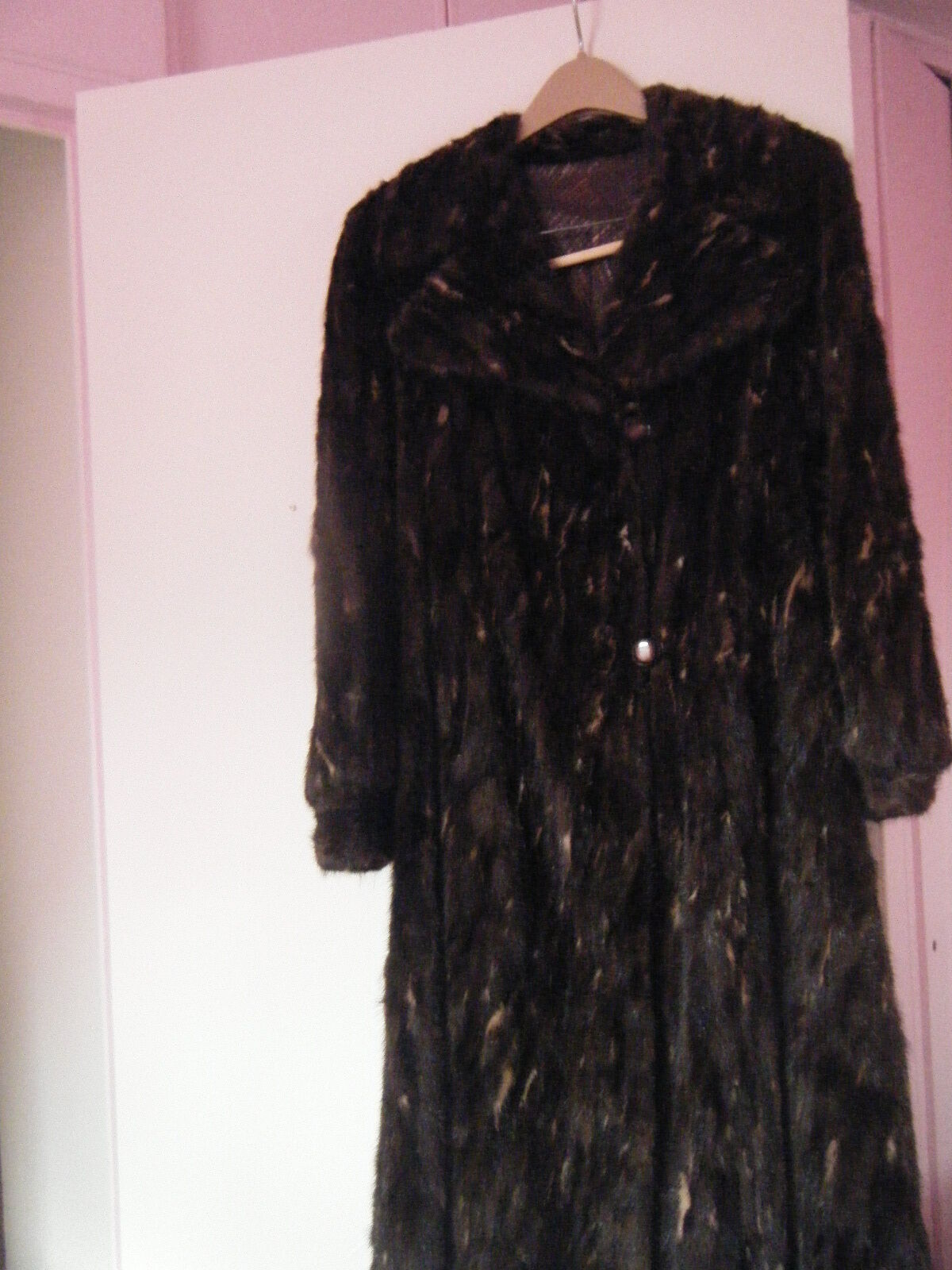 BEAUTIFUL FULL LENGTH MINK COAT GREAT CONDITION SIZE SMALL
