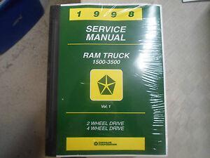 1998 dodge ram truck 1500 2500 3500 service shop repair manual new rh ebay com Dodge Ram 3500 Dodge Ram 3500