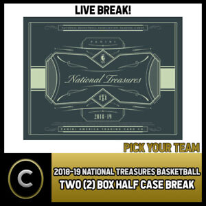 2018-19-PANINI-NATIONAL-TREASURES-2-BOX-HALF-CASE-BREAK-B141-PICK-YOUR-TEAM