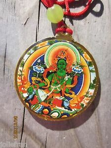 Tibetan buddhist beloved green tara kalachakra pendant necklace image is loading tibetan buddhist beloved green tara amp kalachakra pendant mozeypictures Gallery