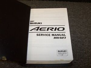 2007 suzuki aerio sedan workshop shop service repair manual premium rh ebay com suzuki aerio service manual 2003 suzuki aerio service manual pdf