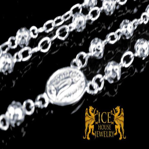 """Solide Argent Sterling .925 homme ou femme chapelet Collier de perles chaîne 28/""""//30/"""""""