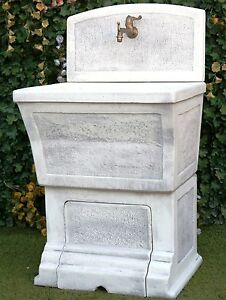 LAVATOIO DELLA RUGA LAVABO IN CEMENTO MARMO 1808+1799 CON RUBINETTO ...