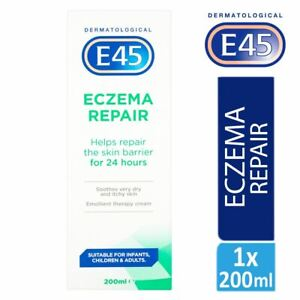 E45 Dermatological Eczema Repair Cream 200ml Soothes Very Dry & itchy Skin