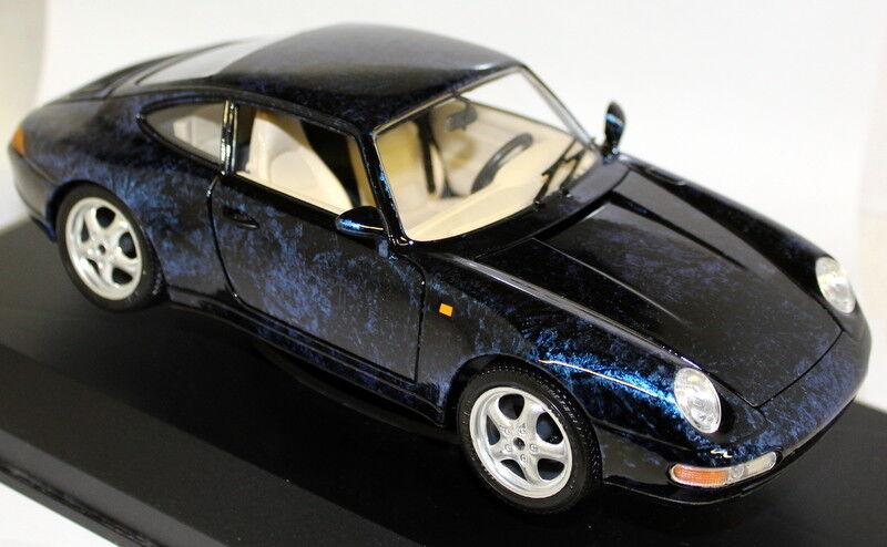 Braccio & Gotz 1  18 skala Porsche 911 993 Coupe blå tärningskast modellllerler Bilfall