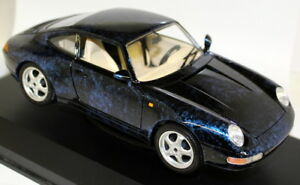 Braccio-amp-Gotz-1-18-Scale-Porsche-911-993-Coupe-Blue-Diecast-Model-Car-Case