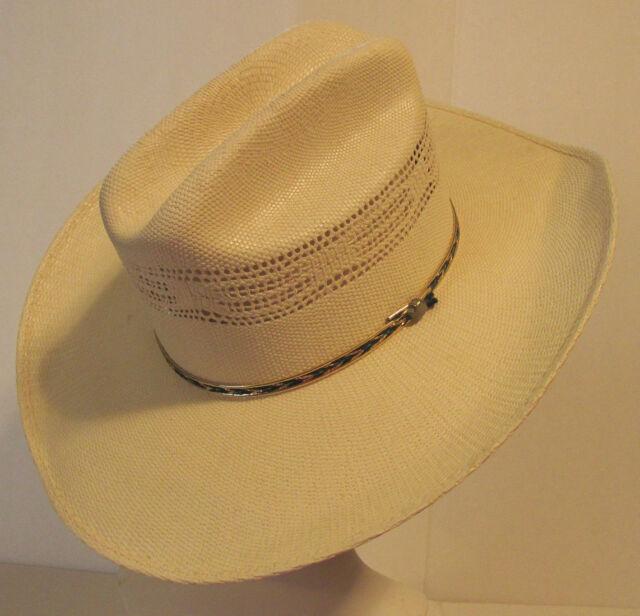59629d94f83452 ... canada texas hat company bandora ivory western cowboy stetson hat sz 7  fc35f e029a