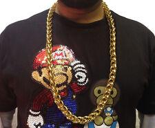 Hip Hop Cadena Collar • 33cm • Oro Estilo • Disfraz # 195