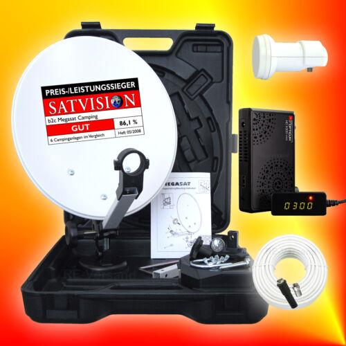 Opticum HD X300 mini Anschluss-Set Mobile HD SAT-Anlage digital 12V//230V LNB
