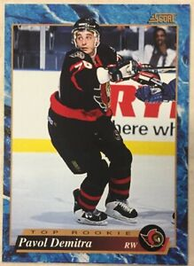 PAVOL-DEMITRA-1993-94-Score-Hockey-French-624-Rookie-Card-RC-Senators-Blues