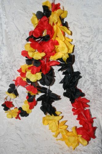 96 x Deutschland Aloha-Hawaiketten 10cm WM EM Blumenkette Alohakette Hawai Kette