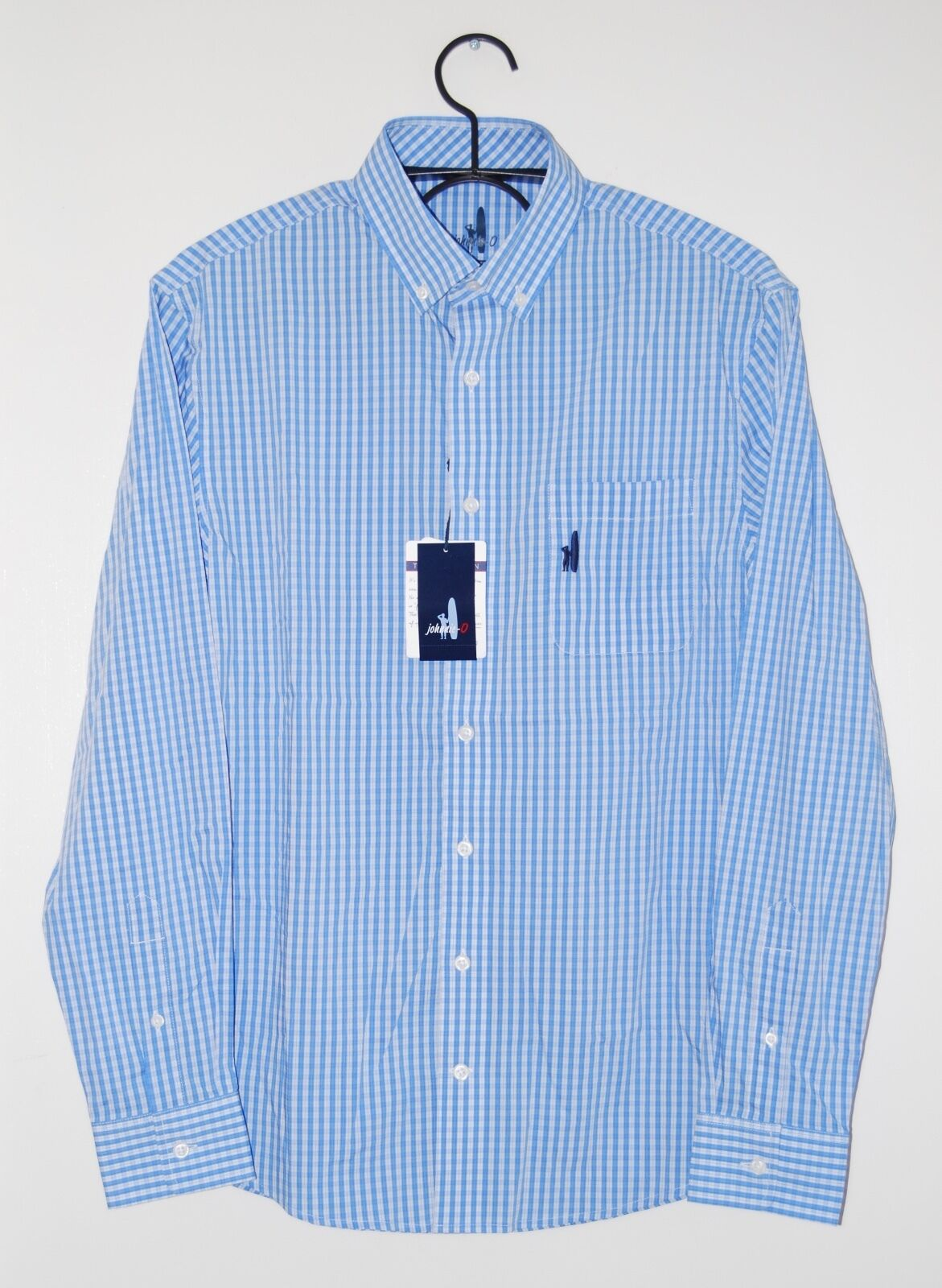 Johnnie O. Prep-Formance Men's Dawn bluee Plaid Booker LS Button-down Shirt Sz S