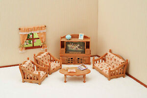 Image Is Loading Sylvanian Families Calico Critters Comfy Living Room Set