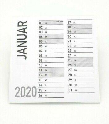 10 x Minikalender Jahr 2021 9x9 cm Abreißblock Basteln Kalender Geschenk Idee