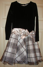 RARE/EDITIONS~girl~GORGEOUS/XMAS/BLACK/VELOUR/WHITE/SILVER/LAME/DRESS!(6X) NICE!