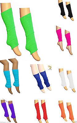 Women Teen School Dance Wear Plain Ribbed Ladies Tutu Leg Warmers Fancy Dress
