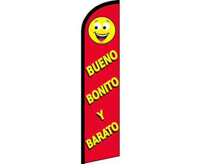 Yellow Windless Banner Advertising Marketing Flag Beuno Bonito Y Barato Red