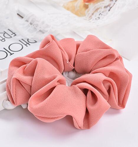 Lady Pure Color Trendy Hair Scrunchie Ring Elastic Bobble Dance Scrunchie Ak