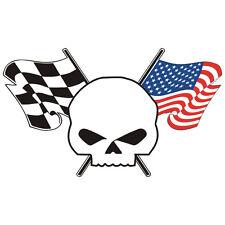 Sticker plastifié SKULL USA Buell Harley-Davidson - 11cm x 6,5cm